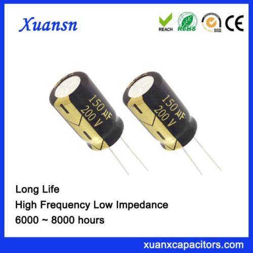 China Supplier 150UF 200V Aluminum Electrolytic Capacitor