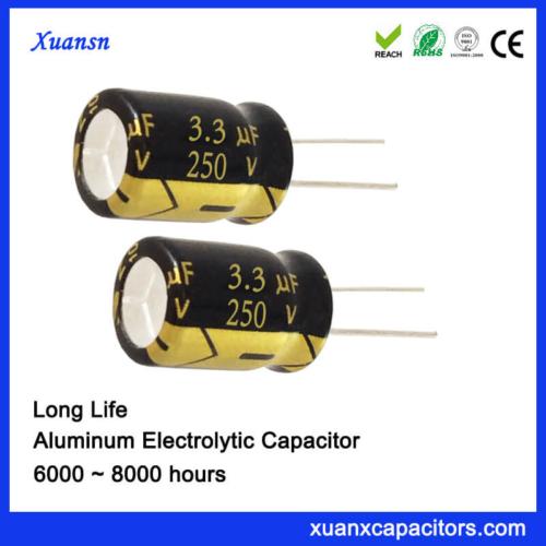 250V 3.3UF Capacitor Radial Car Capacitor Long Life