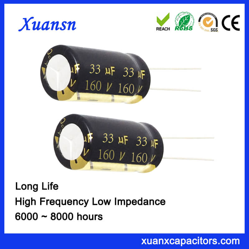 160V 33UF 105℃ 8000Hours Capacitor Electrolytic Wholesale