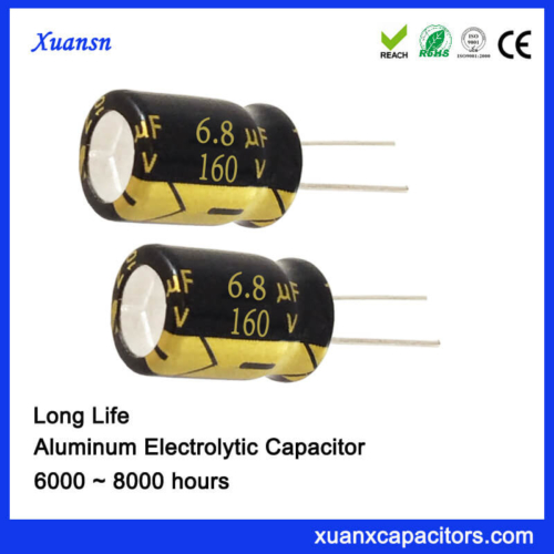 160V 6.8UF Radial Electrolytic Capacitor 8000Hours 105℃