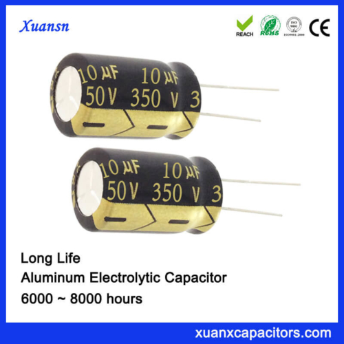 350V 10UF High Voltage Capacitor Long Life 8000Hours