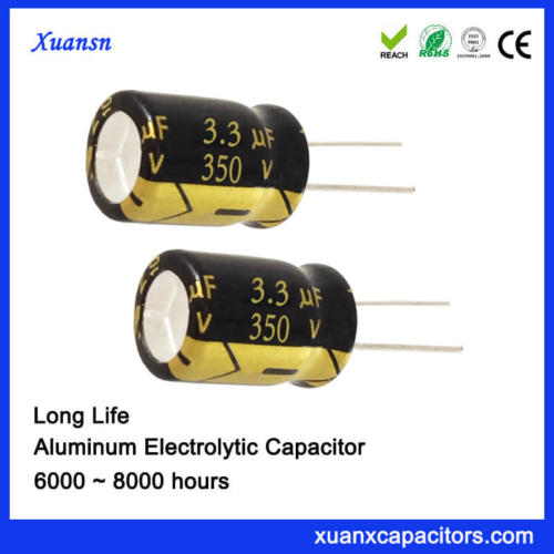 350V 3.3UF 8*12MM 6000Hours Computer Capacitor Electrolytic