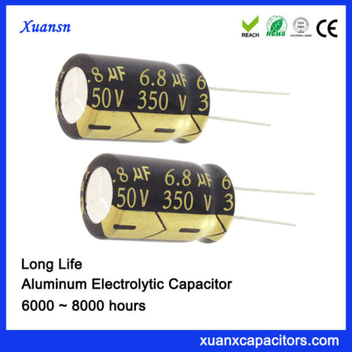 350V 6.8UF Radial 8000Hours Capacitor For LED Power Supply