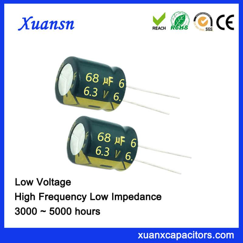 Aluminum Capacitor Manufacturers 68UF 6.3V 5X11MM