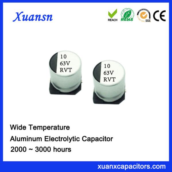 10UF 63V Standard SMD Electrolytic Capacitor Supplier