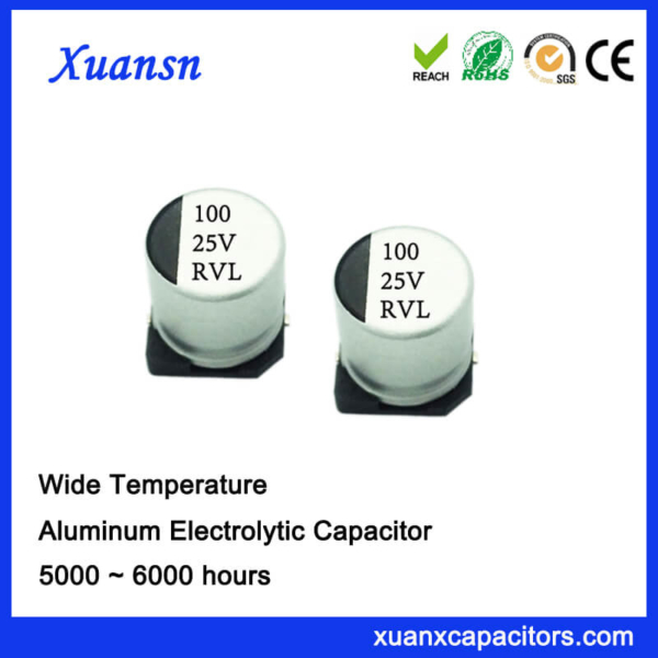 100uf 25v 105℃ 5000Hours SMD Electrolytic Capacitor