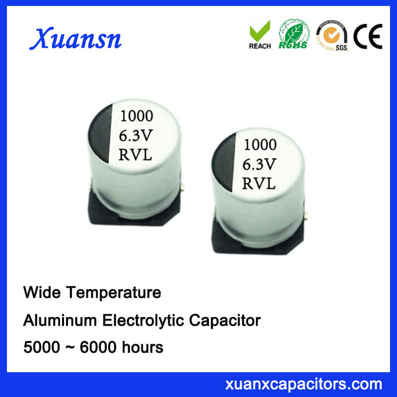 1000UF 6.3V 6000Hours Long Life Surface Mount Capacitor