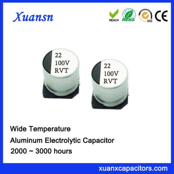 22UF 100V V-Chip Standard Aluminum Electrolytic Capacitor