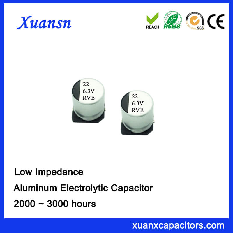 High Frequency Low Impedance SMD 22UF 6.3V Capacitor