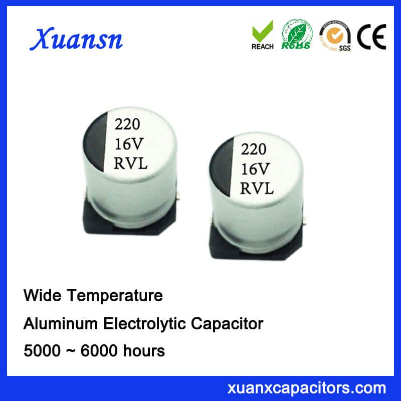220UF 16V 10*10.2 Long Life SMD Electrolytic Capacitor