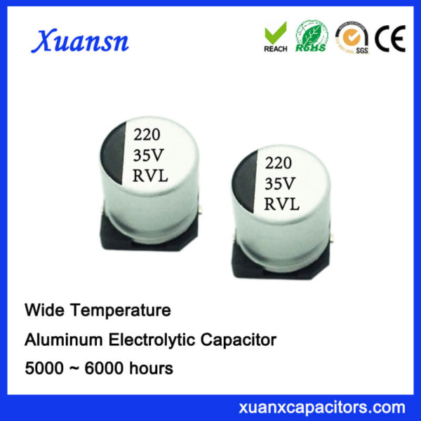 220UF 35V 5000Hours Long Life SMD Electrolytic Capacitor