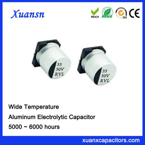 33UF 50V Long Life SMD Aluminum Electrolytic Capacitor