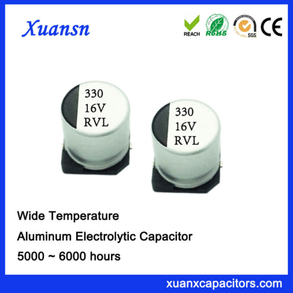 China 330UF 16V 5000Hours Long Life SMD Capacitor