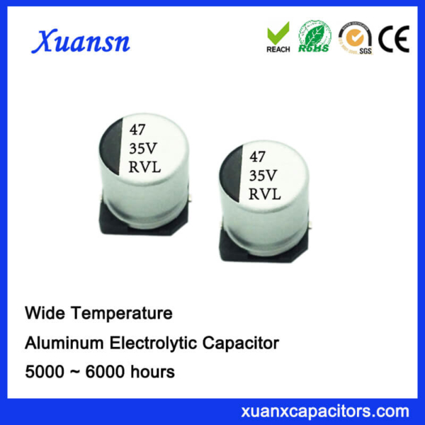 47UF 35V 5000Hours 105℃ SMD Electrolytic Capacitor