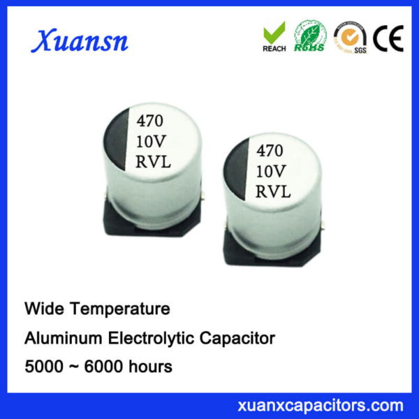 470UF 10V 10*10.2 6000Hours 105℃ Chip Capacitor