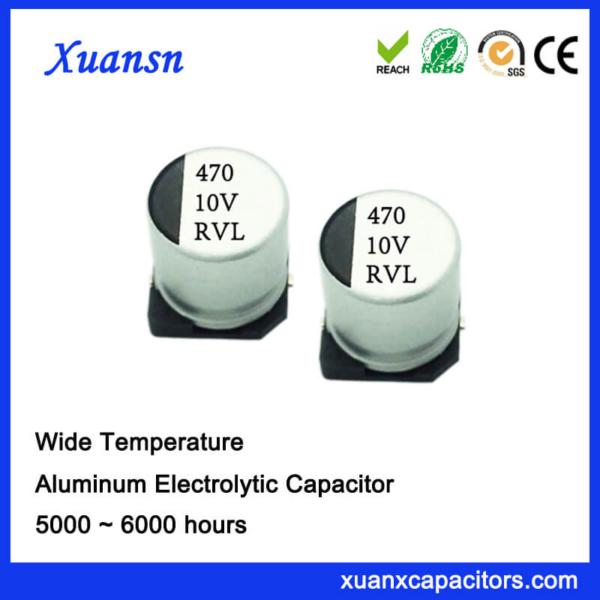 470UF 10V 10*10.2 6000Hours 105℃ Chip Capacitor