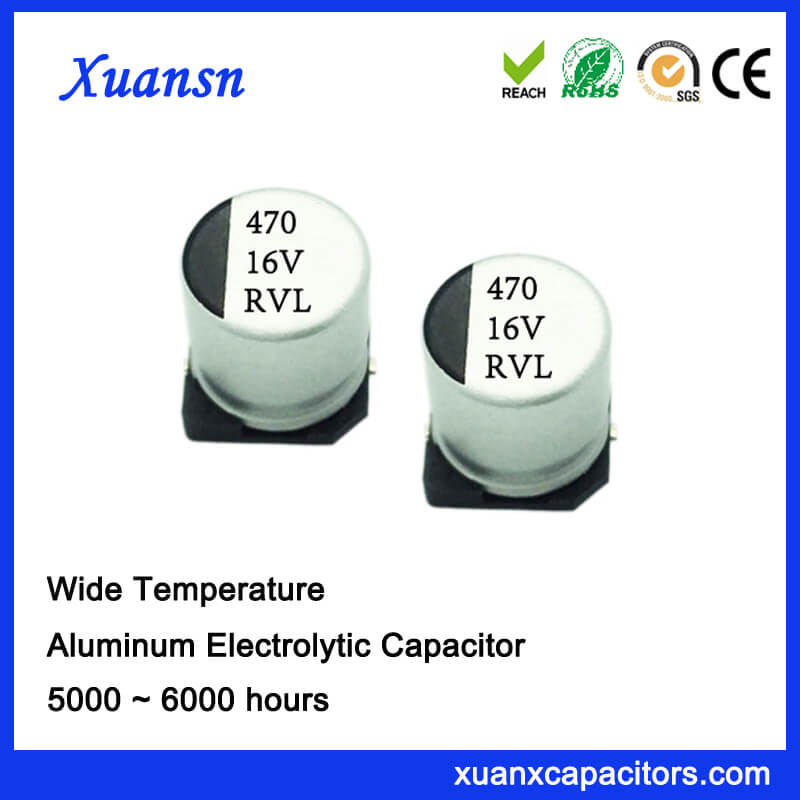 470UF 16V Long Life Surface Mount Electrolytic Capacitor