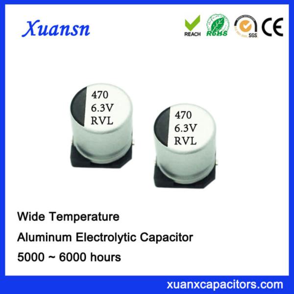 470UF 6.3V Long Life SMD Aluminum Electrolytic Capacitor
