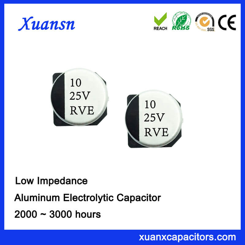 10UF 25V 2000Hours 105℃ High Frequency Capacitor