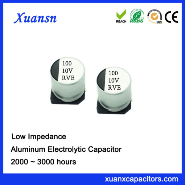 100UF 10V High Frequency SMD Aluminum Electrolytic Capacitor