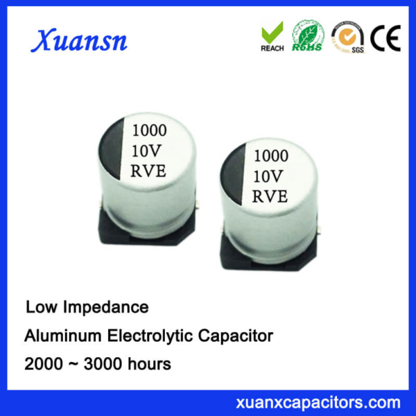 1000UF 10V 105℃ SMD Low Impedance Electrolytic Capacitor