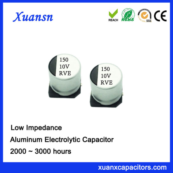 150UF 10V 105℃ 2000Hours Chip High Frequency Capacitor