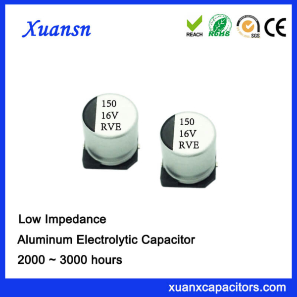 150UF 16V 2000Hours Chip High Frequency Electrolytic Capacitor