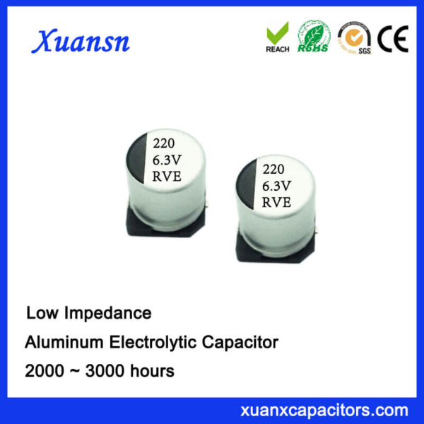 Chip Low Impedance High Frequency 220UF 6.3V Capacitor
