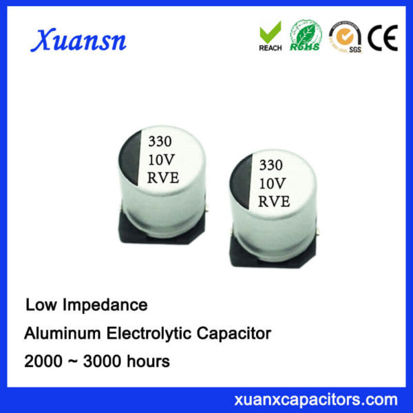 330UF 10V 2000Hours Chip Low Impedance Electrolytic Capacitor