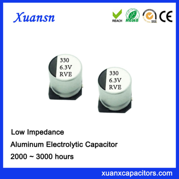 High Quality SMD Low Impedance 330UF 6.3V Electrolytic Capacitor