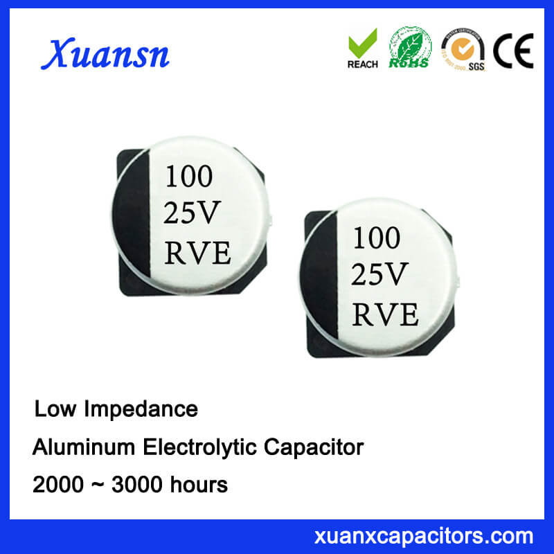 100UF 25V High Quality Low Impedance SMD Capacitor