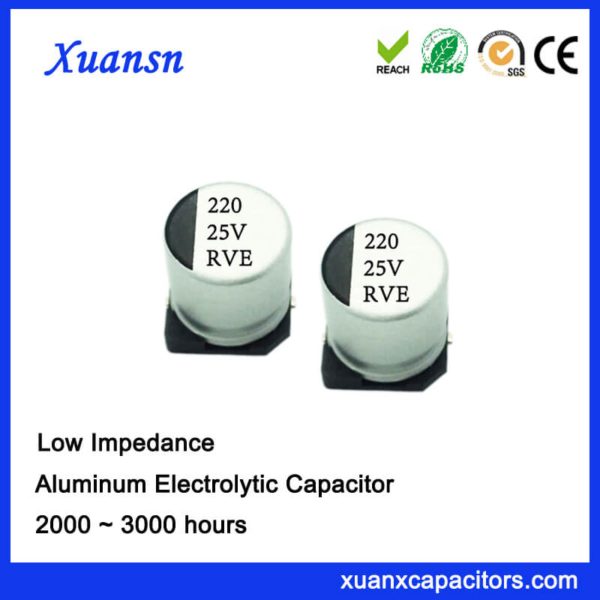 220UF 25V 2000Hours SMD High Frequency Capacitor