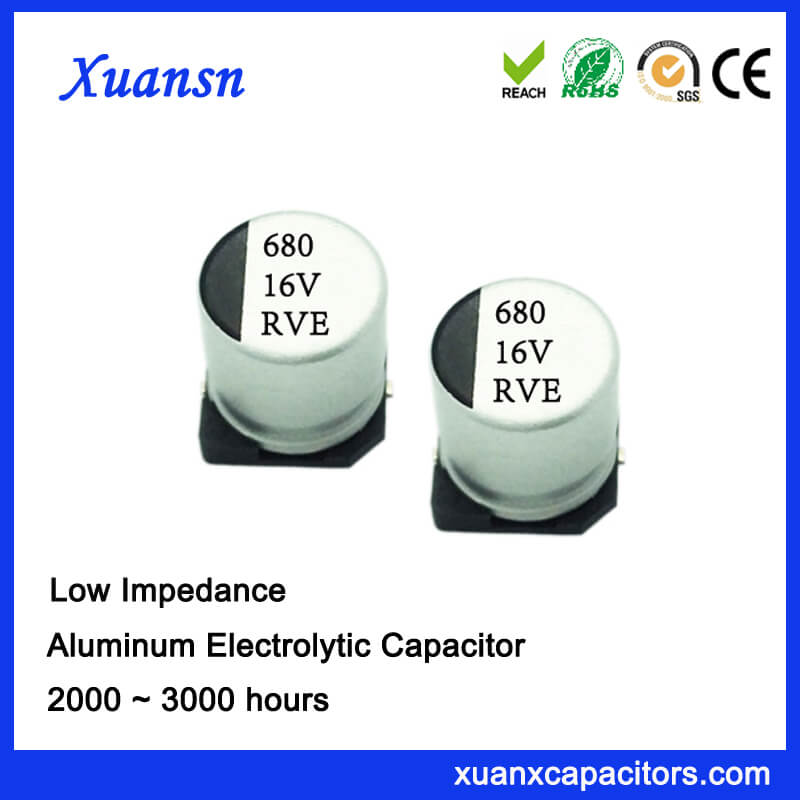 680uf 16v 3000hours Smd High Frequency Electrolytic Capacitor