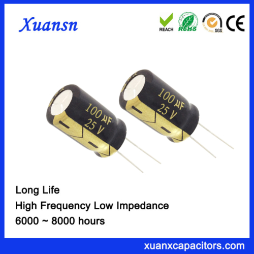 Blue electrolytic capacitor