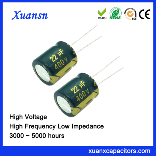 Green Sleeve Electrolytic Capacitor 22uf 400v,