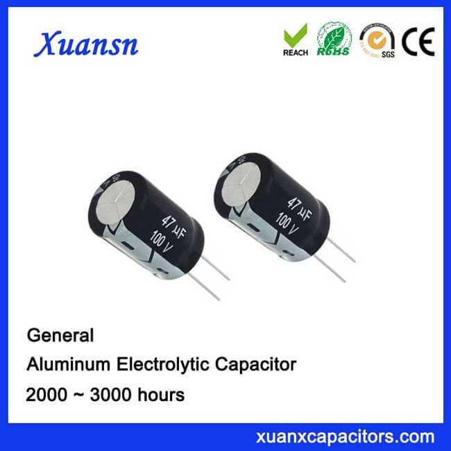 pack of 10 100V Radial Capacitor 47uF