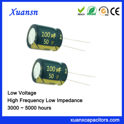 Low capacitor impedance 100uf50v