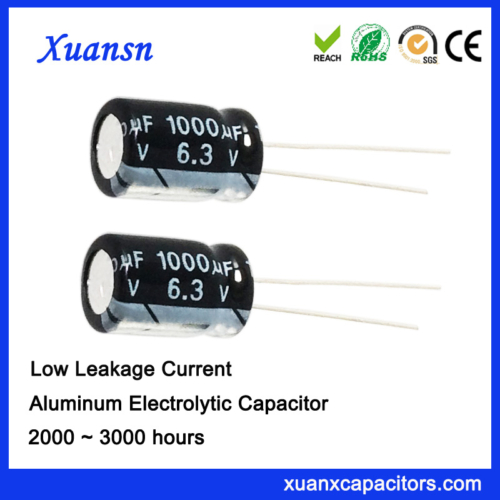 Low leakage current capacitor 1000uf6.3v