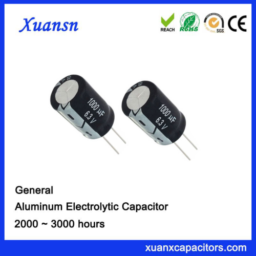 dip conventional capacitor 1000uf6.3v