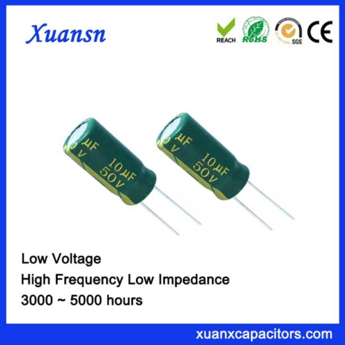 high capacitor frequency 10uf50v