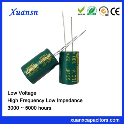 Green shell electrolytic capacitor 22uf100v