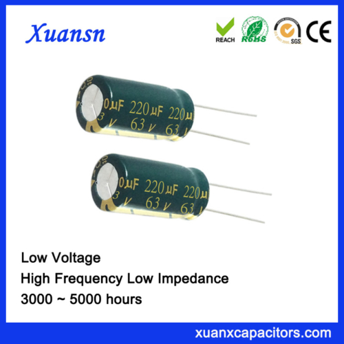 Dark green sleeve electrolytic capacitor 220uf63v