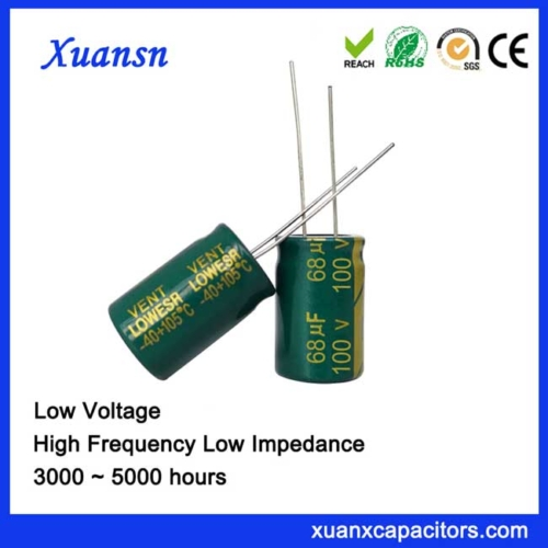 High quality electrolytic capacitor 68uf100v
