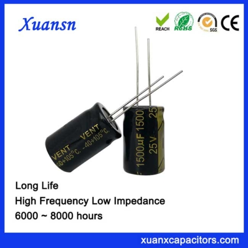 High Ripple Current electrolytic capacitor 1500uf25v