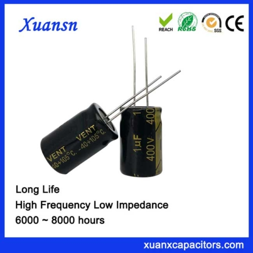 High voltage electrolytic capacitor 1uf400v