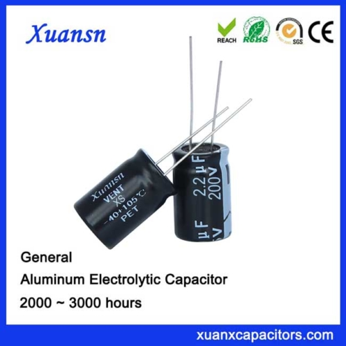 radial conventional capacitor 2.2UF200V