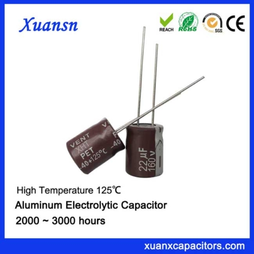 125C electrolytic capacitor 22uf160v