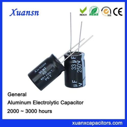 high voltage electrolytic capacitor 33uf250v