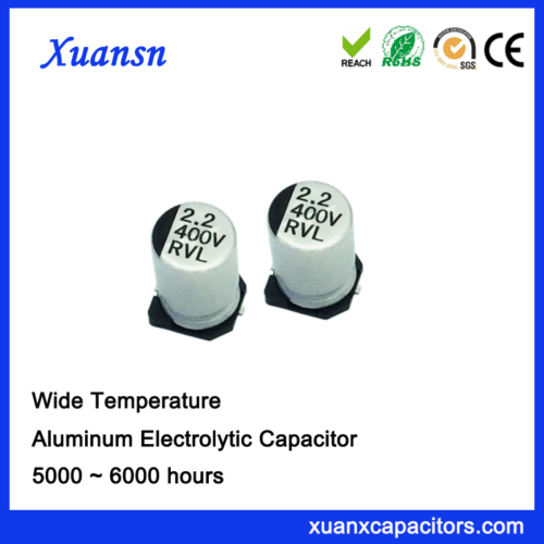 high voltage smd electrolytic capacitor 2.2uf400v