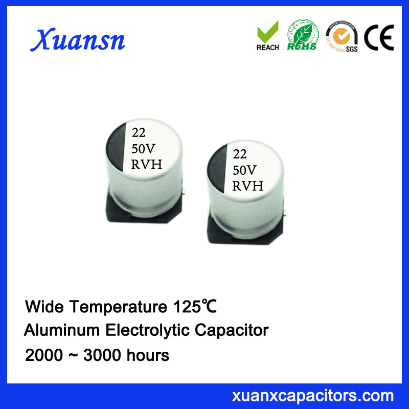 SMD high temp electrolytic capacitor 22uf50v